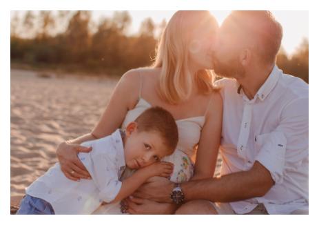 Sesja rodzinna na plaży, Warszawa