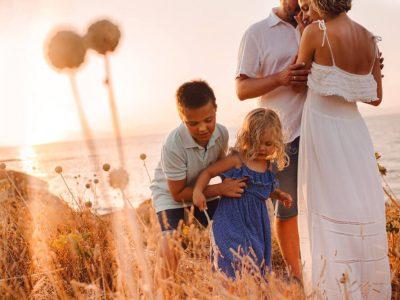 Sesja rodzinna na plaży, Majorka